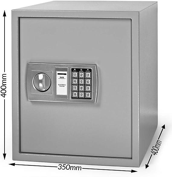 Caja fuerte electrónica digital, grande, acero, 40 x 40 x 35 cm.: Amazon.es: Bricolaje y herramientas