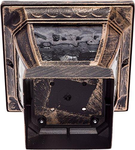 Paradise GL28998BZ Solar Cast Aluminum LED Post Cap Light for 4x4 Wood Posts (Bronze, 6 Pack) by Paradise (Image #4)