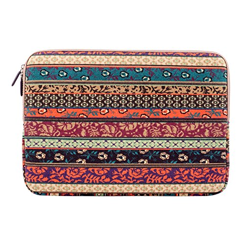 Plemo 9.7 Inch Tablet Sleeve Case Waterproof Canvas Fabric Protective Carrying Case Bag for iPad Pro 9.7 Inch/iPad Air 2/iPad 4 3 2/iPad mini/Samsung Tablet/Kindle - Vintage Bohemian
