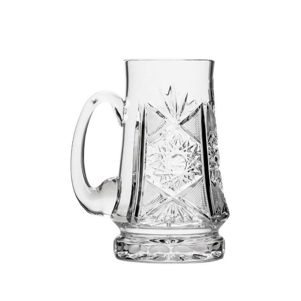 Russian Cut Crystal Beer Mug 22oz