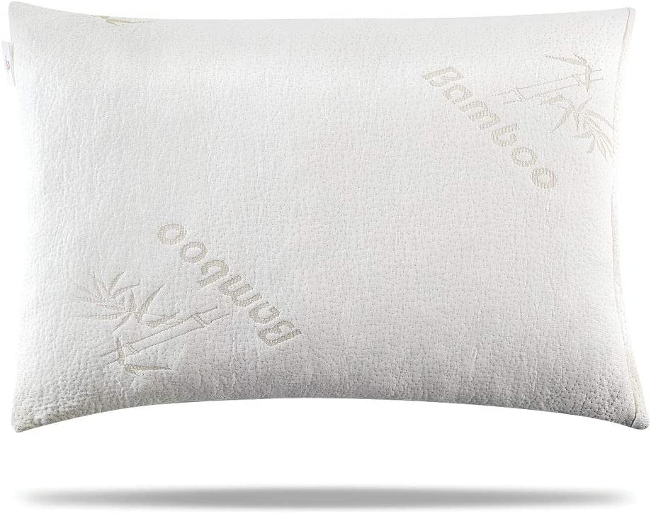 memory foam pillow - bamboo memory foam pillow - adjustable for your body to thick thin - made of shredded memory foam pillow - cooling memory foam pillow for side back sleepers, neck, Hypoallergenic