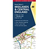 AA Road Map Midlands & Central England (AA Road Map Series 05) (AA Road Map Britain)