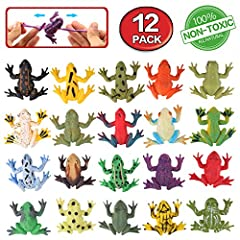 Features: -Passed EU SGS security standards, non-toxic,smelless,protected by using  -Assorted color frogs come from a storage bag for more visual appeal. Include green, pink, yellow, black and more -These frogs are the perfect party accessory...