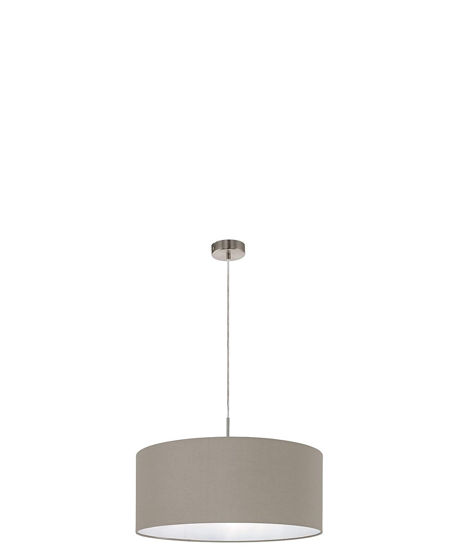 EGLO Hängeleuchte, Stahl, E27, Nickel-matt Taupe, 53 x 53 x 110 cm