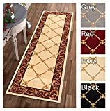 Patrician Trellis Ivory French European Formal Traditional 3×12 (2'7″ x 12′) Runner Rug Stain/Fade Resistant Contemporary Floral Thick Soft Plush Hallway Entryway Living Dining Room Area Rug Review