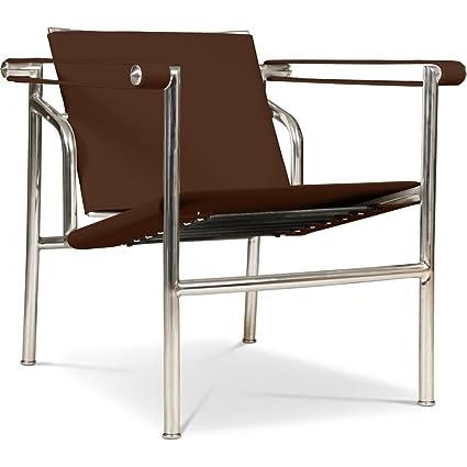 Silla de Diseño LC1 - Inspirada por Le Corbusier - Cuero de ...