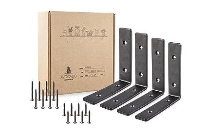 Heavy Duty Metal Wall Brackets 6quot X Rustic Steel L Bracket In