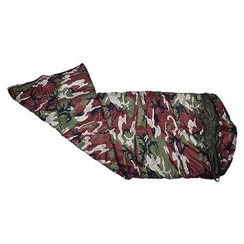 SODIAL (R) 3 temporada solo adultos impermeable senderismo traje caso saco de dormir bolsa Color: Verde Militar camuflaje: Amazon.es: Deportes y aire libre