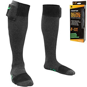 Meister Battery Heated Socks - 8+ Hour Model - Rechargeable w/ Temperature Control