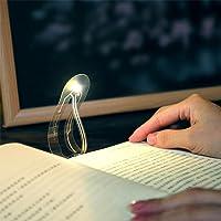 Super delgado marcapáginas, mini luces de libro para lectura de cuaderno de estudio, compacto, flexible, lámpara de lectura de libros LED, 4000 K, luz blanca cálida