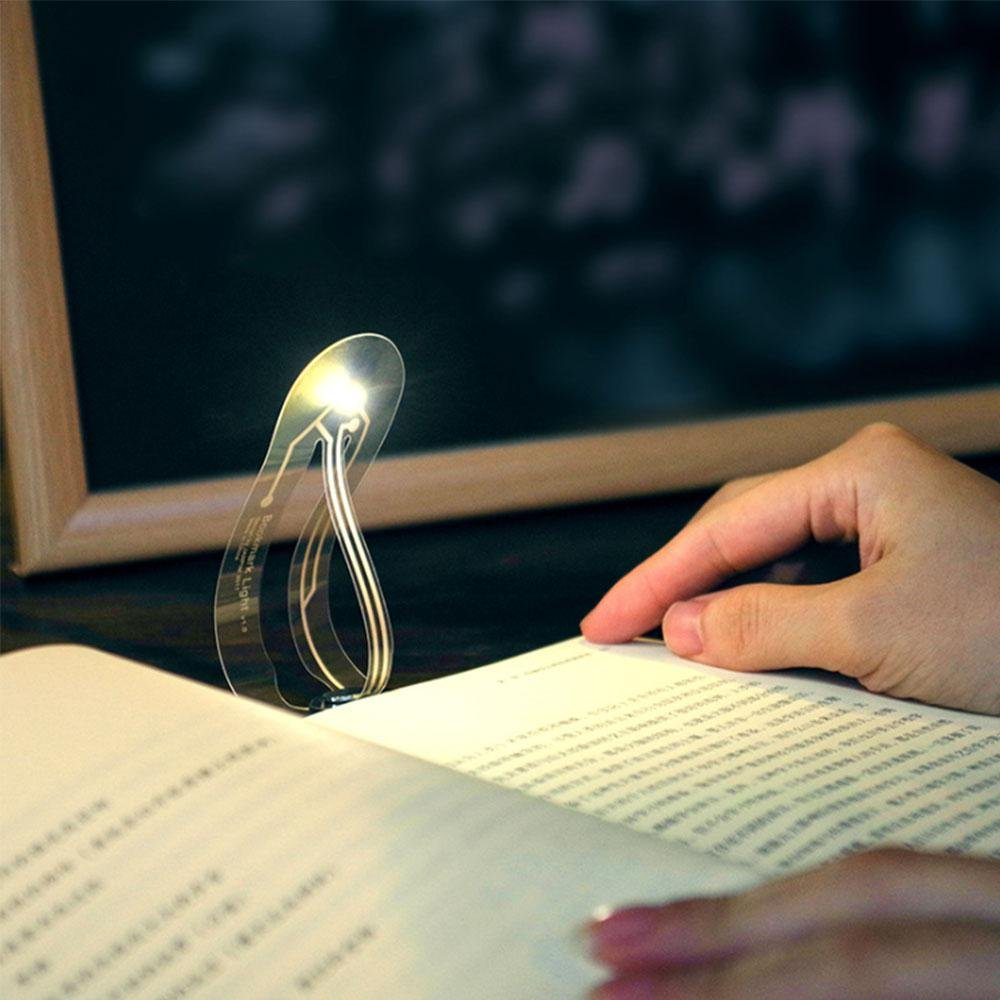 Super Thin Bookmark Light, Mini Book Lights for Reading Study Notebook,Compact Flexible LED Book Reading lamp- 4000k Warm White Teepao 7025779991901
