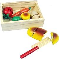 Ahşap Oyuncak Meyve Sebze Kesme Oyunu Eğitici Öğretici Ahşap Oyuncak Çocuk Akıl Oyunu
