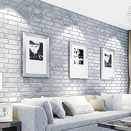 Brick Texture Grey Peel And Stick Wallpaper Protection Home Wall Decor Icon