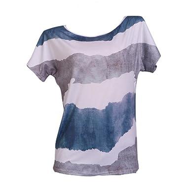 c1aaf287a0574a Dragon868 Damen Tops Sommer Locker Kurzarm Mode Lässig Frauen Kurzarm  Streifen Druck Plus Size Top Bluse T Shirts Damen 2018  Amazon.de   Bekleidung