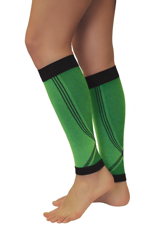Calf Sleeves Run Warmer Deportes Correr Calcetines Tonus Elast 1/par Verdes Sirven De Compresi/ón para Hombre y Mujer