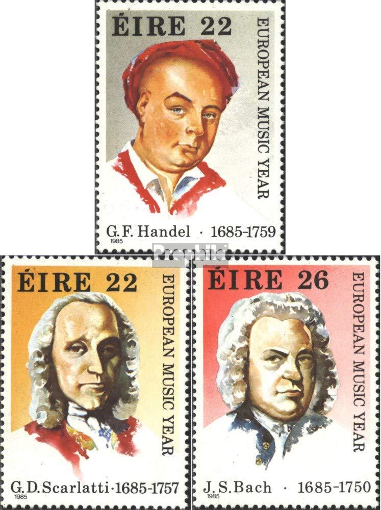 Completa.edici/ón. 1985 Europeo a/ño el m/úsica Irlanda 565-567 Sellos para los coleccionistas M/úsica // Bailar