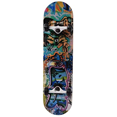 Skateboard, 31 Inch Skateboard Complete Longboard, Non-Slip Double Kick Dance Board Maple Wood 8 Layer Skateboard Deck for Extreme Sports and Outdoors : Sports & Outdoors