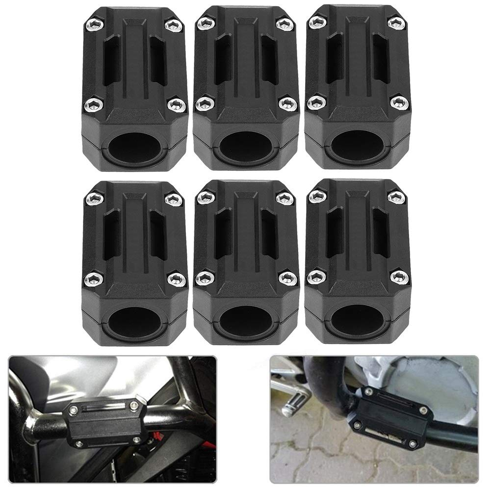 Bumper Block 3 Pair Motorcycle Engine Guard Bumper Block Protection Decor 22//25//28mm Fit For R1200GS R1150GS