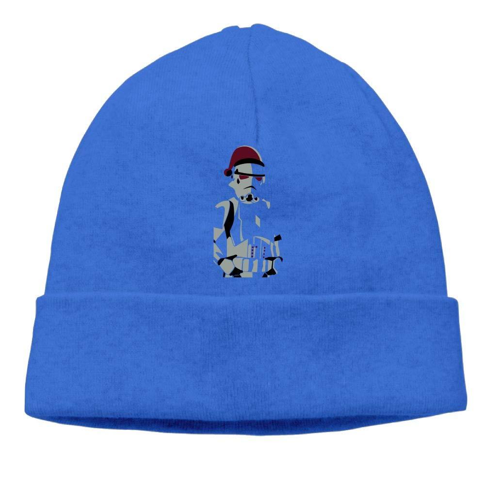 Oopp Jfhg Merry Christmas Trooper Beanie Knit Hats Ski Cap Men RoyalBlue