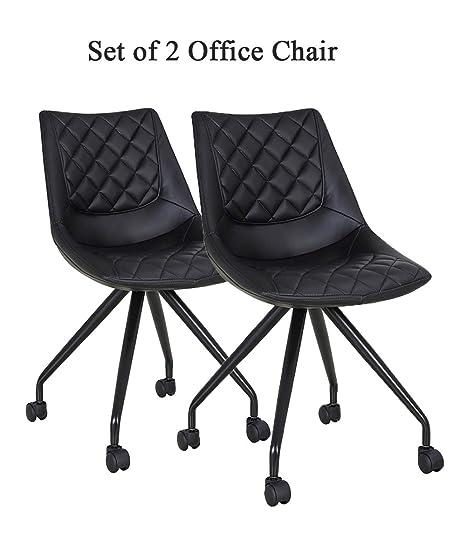 Amazon.com: AOSUN Juego de 2 sillas sin brazos para oficina ...