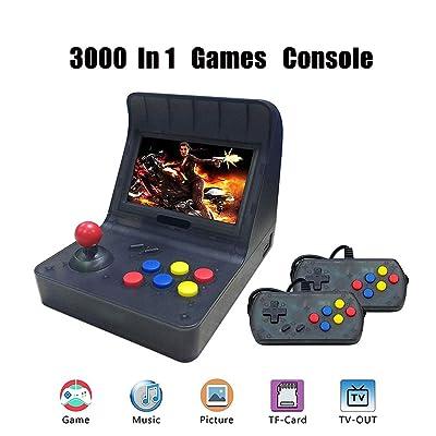 JIANYONG Consolas de Juegos Portátil, Consola de Juegos Retro Game Console 4.3 Pulgadas 3000 Juegos TV-Output Videojuegos Portátil: Hogar