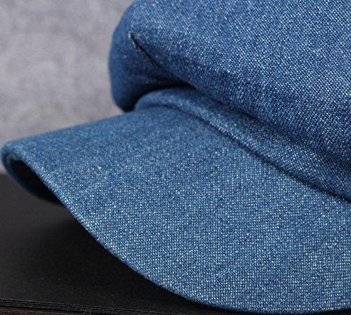 Tissu Bleu Chapeaux De Acvip Octogonal chef Denim Hat Couvre Adulte Cap Unique Bérets Taille Casquettes E6nvxzq6
