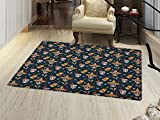 smallbeefly Mexican Door Mats Area Rug Detailed Artistic Floral...