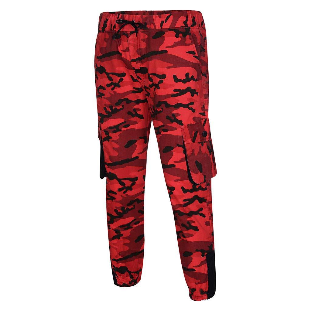 Beikoard Pantalone Uomo Cotone Estivo Modello Jeans Pantaloni da Lavoro Sportivi Casual Multitasche da Uomo in Camouflage Poliestere