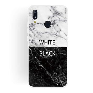 coque huawei p20 marbre blanc