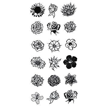 Cokohappy Temporary Tattoo Small Floral Flower Amazon Co Uk Beauty