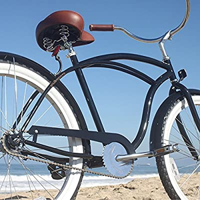 sixthreezero Men's BE 1-Speed 26-Inch Beach Cruiser Bicycle, Black