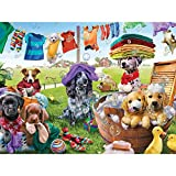 "Bits and Pieces - 500 Piece Jigsaw Puzzle for Adults 18""X24"" - Puppies"
