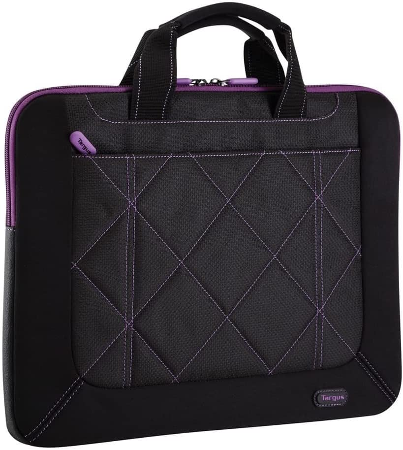 Targus Pulse Shockproof, Weather-Resistant Slipcase for 16-Inch Laptop, Black/Purple (TSS57401US)
