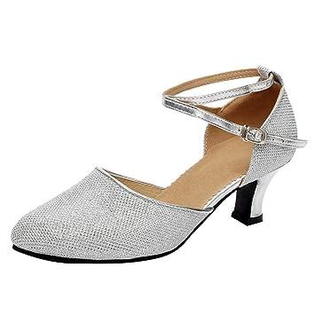 2546cff6b Amazon.com  Women s Sequins Dance Shoes Latin Rumba Waltz Tango ...