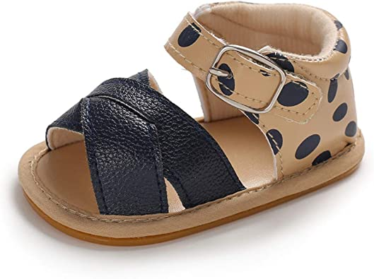 Isbasic Infant Baby Pu Leather Sandals