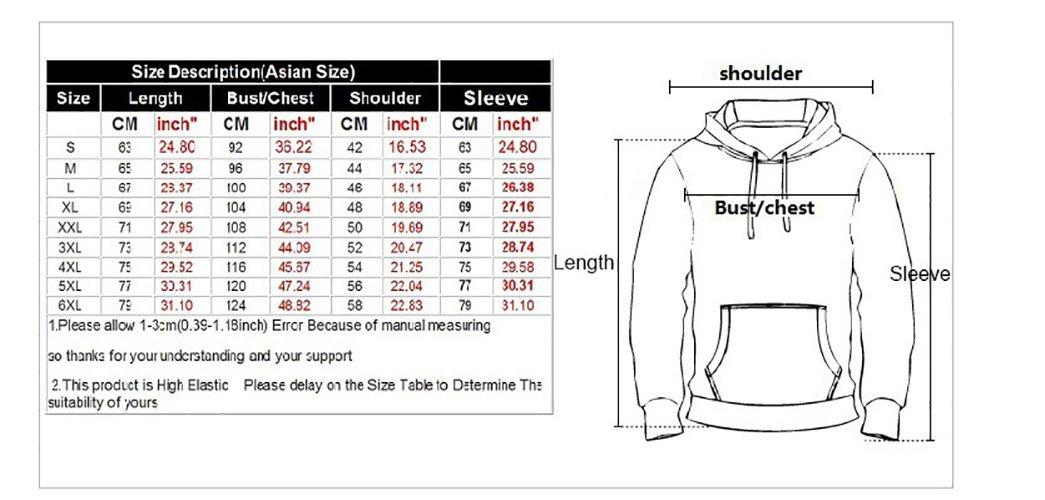 Eaglebeky Galaxy Woods Printed Hoodie Unisex Sweatshirts Boy Pullover Fashion Animal Streetwear Clothes (1, 5XL) by Eaglebeky (Image #3)
