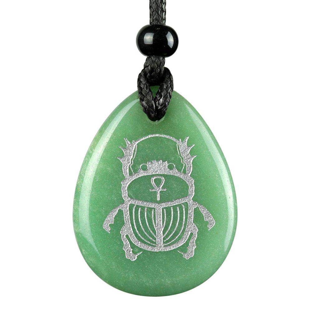 Amazon Amulet Egyptian Scarab Rebirth Ankh Life Powers Green