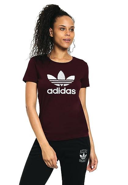 Adidas esRopa Mujer Camiseta Rojo Accesorios Para 38Amazon Y 8PZN0OkXnw