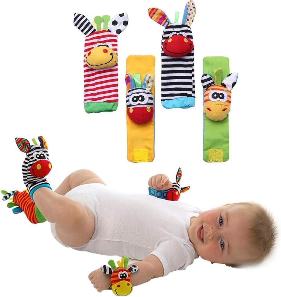 Bweele Abeja Sonajeros Juguete Bebé Peluches, Sonajeros Juguete Bebé Peluches Bebé Juguete Sonajeros Muñeca y Calcetines para Niños