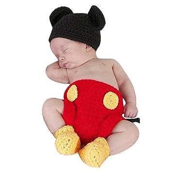 Tiaobug Neugeborene Baby Sets Strick Kostüm Gestrickt Mütze Hose ...