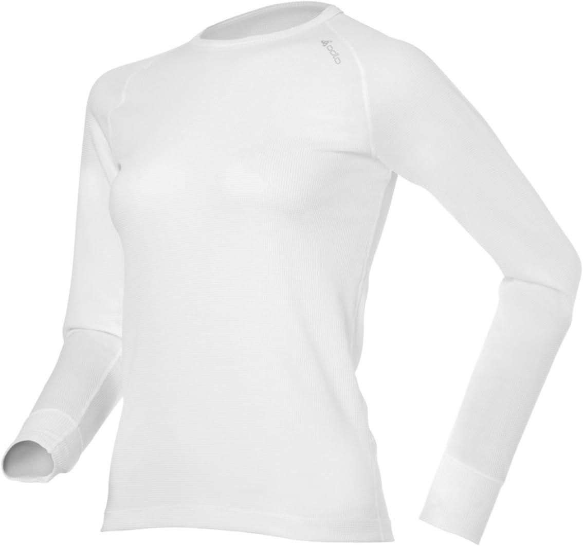 Odlo T-Shirt /à Manches Longues et col Rond pour Femme Cubic
