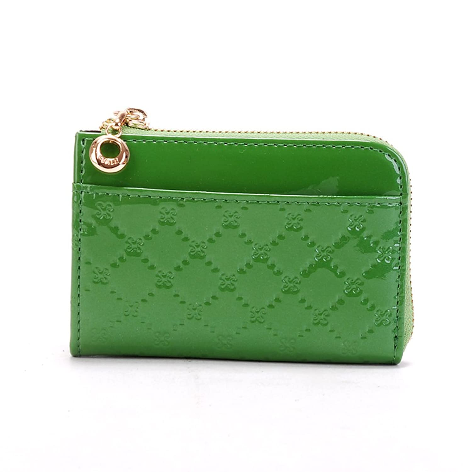 Lady change card Pack/Korean leather candy color patent leather bus card cute small wallet coin bag
