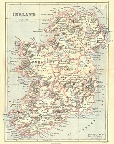 Map Of Ireland And Counties.Amazon Com Ireland Showing Counties Butler 1888 Old Map