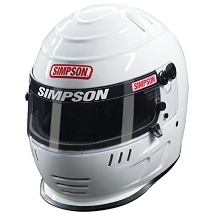 Simpson Racing Helmets >> Simpson 1786121 Speedway Shark Youth Medium Helmet White