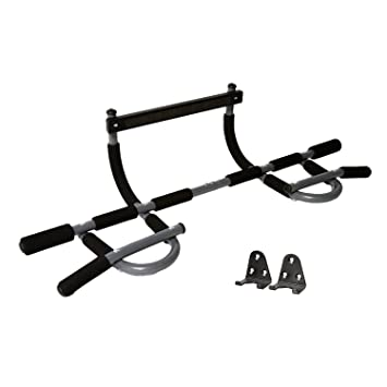 iron gym pull up bar size