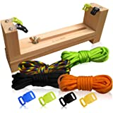 3 Bees & Me Complete DIY Paracord Bracelet Making Kit for Friendship Bracelets & Jewelry- for Tweens, Girls & Boys Ages 7 to 11 - Creative Arts & Crafts Birthday Gift for Kids - Colors May Vary