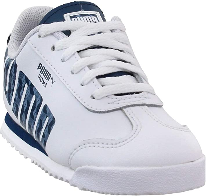 White Puma Roma Basic GG Toddler Sneakers Casual Boys