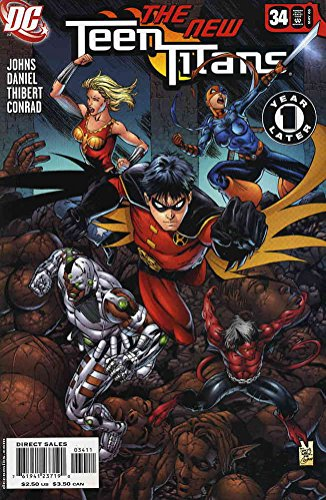 One Year Later Robin Costume (Teen Titans (3rd Series) #34 VF/NM ; DC comic book)