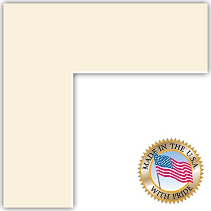 Amazon.com: 24x36 Off White Custom Mat for Picture Frame with 20x32 ...