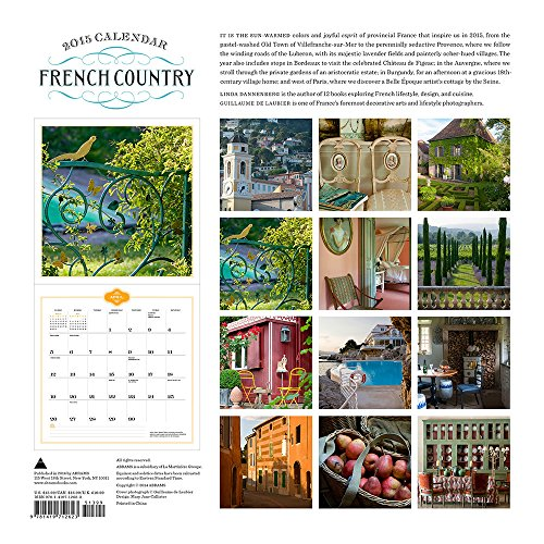 French Country 2015 Wall Calendar Buy line in UAE